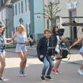 Flashmob in Bad Arolsen zur neuen Single von Uwe Busse