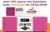 Unser Schlagerparadies - Radio jetzt mit 15% Rabatt bis zum 28. Februar!